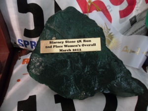 My St. Patty's Day Race Award.  I know you're jealous.