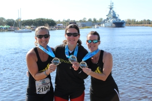 Me, Wendy, and Randee after the B2B relay