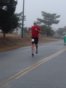 Andy at the finish.
