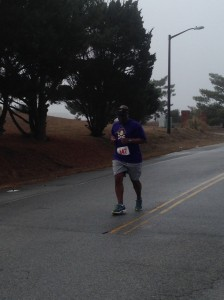 Anthony finishing his 106th 1/2 marathon!