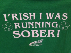 Shirt from the Shamrock 5k in Sioux City, Iowa