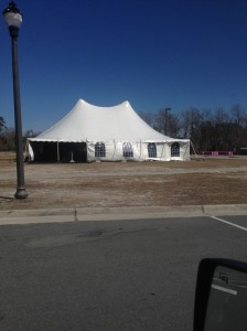 Event tent for the Quintiles Wrightsville Beach Marathon