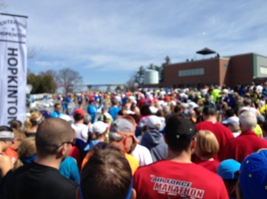 So many people at athlete's village