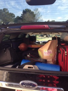 How much shit do you need for a weeklong trip? Well, ALL of it.