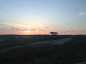 Gorgeous view from the north tip of Wrightsville Beach at sunrise.