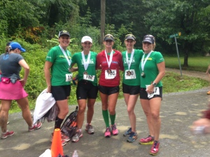 At the finish- Renee, Me, Shelley, Sharon, and Paige