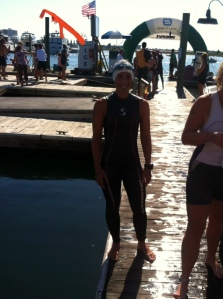 After the Mott's Channel Swim, a 1.3 mile open water race.