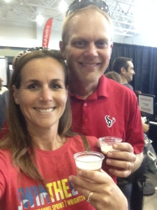 A little drinky drink at the expo/bag drop. I was so tired.