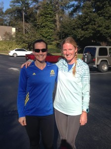 Me and my new running buddy, the cool Amanda