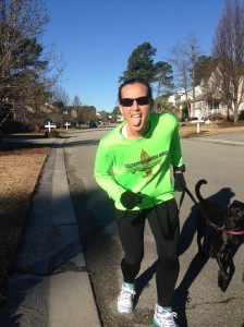 On my short recovery run with the pup, Scarlett