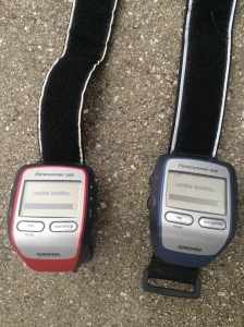 To keep me entertained before the 10 miler, I had a Garmin race to see which one I would wear.
