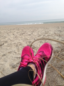 Had to take a few minutes to enjoy the view and ocean sounds after our run.
