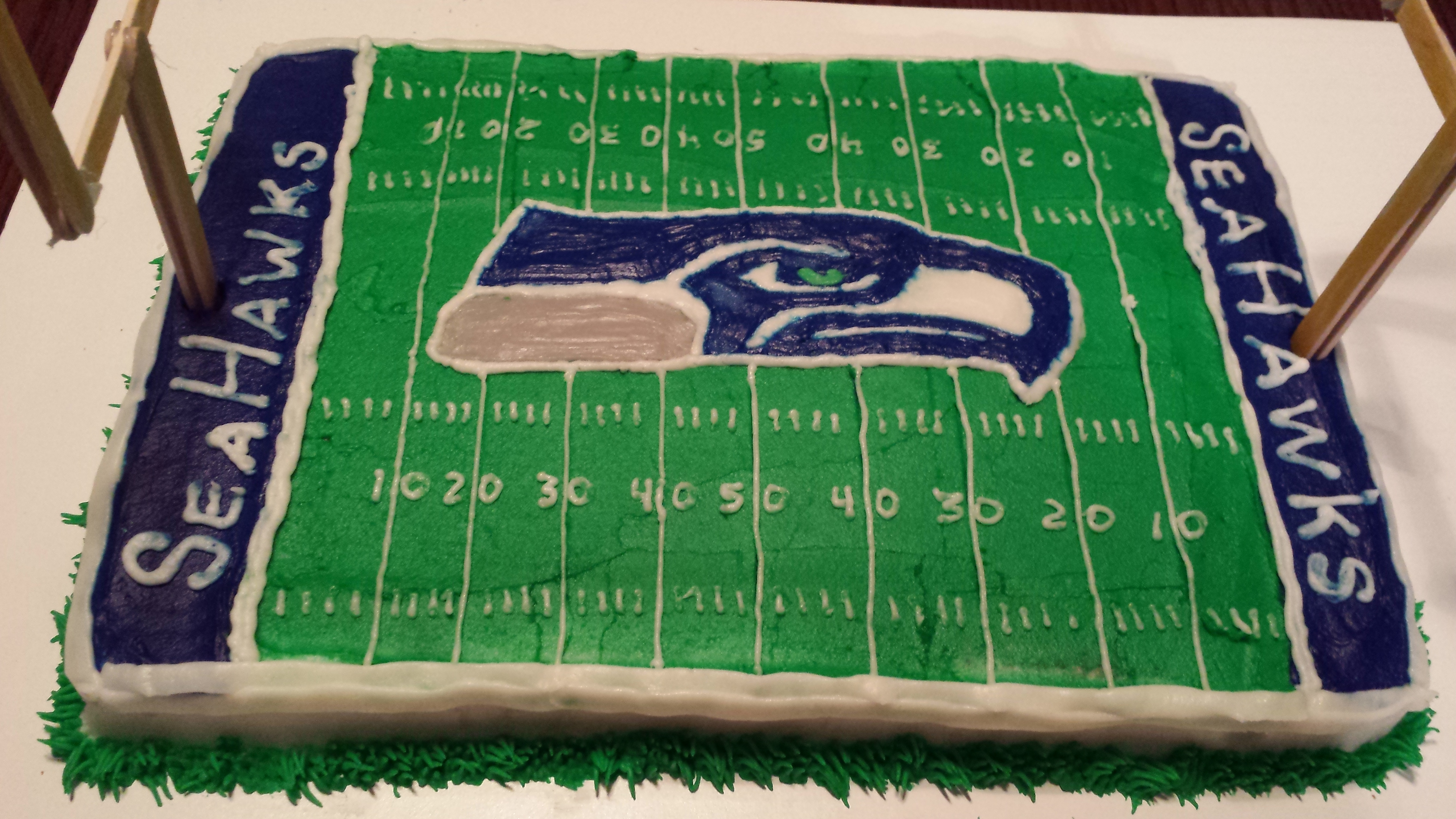 Pleasant Seattle Seahawks Birthday Cake Running Boston And Beyond Birthday Cards Printable Opercafe Filternl
