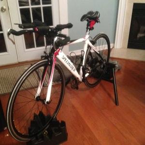 "My ""new"" tri bike, now called ""KitKat"""