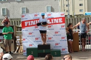 First on the podium. I sure creamed everyone else in my division!!