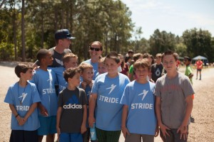 Some of my Stride boys with our fabulous MC, Colin from It's Go Time
