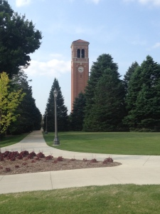 The campanile at UNI