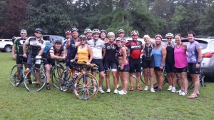 The Wilmington group at Tour de Moore.